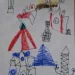 Деревня рыцарского замка
